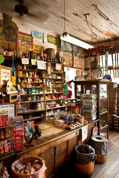 Inside an old country store