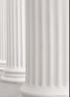 White Corinthian Columns Three Taken in Charleston SC by John Michiels