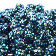 10mm Resin Rhinestone Beads - Petrol