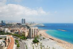 Photo about Aerial view of Barceloneta (Barcelona - Spain). Image of ocean, architecture, spain - 16220676 Barcelona Vacation, Barcelona Beach, Barcelona Travel, Barcelona Spain, Barcelona City, Places To Travel, Places To Visit, Bavaro Beach, Airfare Deals