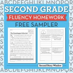 5 FREE weeks of 2nd Grade Fluency Homework. There are 10 pages included in the…