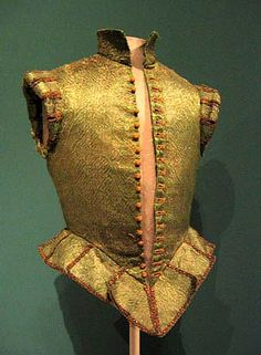 Doublet/jerkin - note the shoulder treatments and waist tabs.  Jerkin from 1620, © Los Angeles County Museum of Art