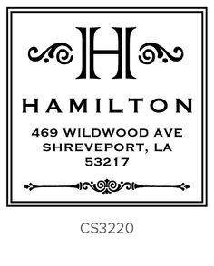 Need a new address stamp!