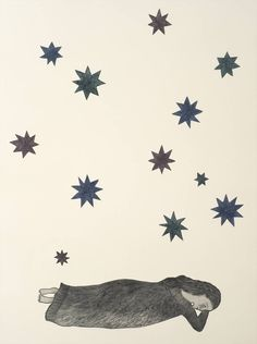 Title - Nocturne, 2006 Copperplate Engraving by  Kiki Smith Plate Size  22.65 in.  X  16.5 in. IDNY Catalog# 21Moderns06 Please send  mail@idny.biz