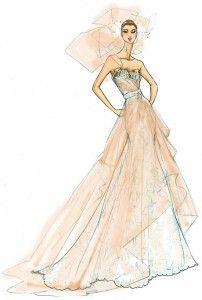 A lovely dress illustration Dress Illustration, Fashion Illustration Sketches, Fashion Design Sketches, Fashion Drawings, Sketch Fashion, Design Illustrations, Sketch Design, Arte Fashion, Croquis Fashion