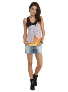 Racer back tank top from Disney with a Dumbo sublimation print on the front. Disney Tanks, Disney Shirts, Disney Outfits, Cute Outfits, Disney Clothes, Nerd Fashion, Disney Fashion, Hot Topic Disney, Types Of Girls