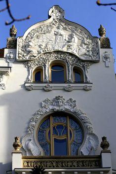 Kőrössy villa, Budapest by Gyula Kincses - Photo 253032725 / Architecture Artists, Art Nouveau Architecture, Beautiful Architecture, Beautiful Buildings, Architecture Details, English House, Brick And Stone, Belle Epoque, Bauhaus