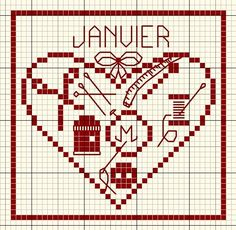 janvier_2 - Sewing Heart cross stitch