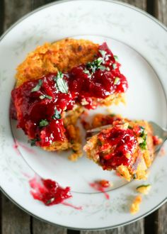 Gluten Free Butternut Squash Quinoa Patties with a homemade cranberry orange sauce. Beautiful and easy to make!