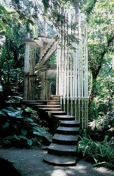 """""""Las pozas"""" near the village of Xilitla in San Luis Potosí, Mexico. Las pozas near the village of Xilitla in San Luis Potosí, Mexico. Futuristic Architecture, Beautiful Architecture, Ancient Architecture, The Places Youll Go, Places To Go, Magic Places, Abandoned Places, Abandoned Mansions, Abandoned Houses"""