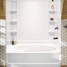 Nice Ensemble Tiled Shower Tub With Shelving From Sterling