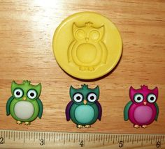 Cute Owl  Flexible Silicone Mold for Polymer Clay Resin