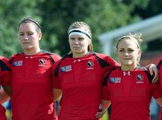 Jacey Murphy at 2014 World Cup - Essa's Jacey Murphy (far left) at the 2014 rugby World Cup