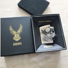 2001 Zippo Plated Silver Harley Davidson Lighter Limited Edition