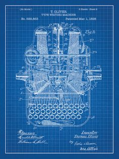 69 best patent images on pinterest inventions physical science typewriter patent poster screen print decoration technical invention design blueprint schematic retro educational screenprint malvernweather Images