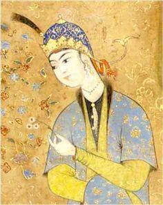 Persian Miniature Painting: Seated Princess Mohammadi, Herat, circa 1565 Soudavar, Abolala. Art of the Persian Court. New York: Rizzoli, 1992, page 237plate 93.