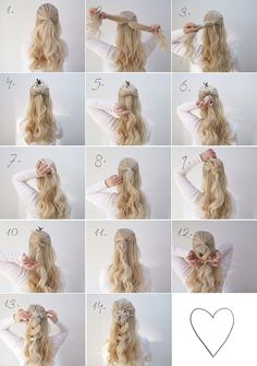 Two simple hair tutorials perfect for a wedding grace and braver hair in 20 Wedding Hairstyles Tutorial, Simple Wedding Hairstyles, Diy Wedding Hair, Wedding Hair Tutorials, Bridesmaid Hairstyles, Short Wedding Hair, Bridal Hair, Short Hair Styles Easy, Curly Hair Styles