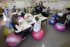 Helpful description of creating more vestibular input (but not in the classroom). The right — and surprisingly wrong — ways to get kids to sit still in class - The Washington Post Pediatric Occupational Therapy, Pediatric Ot, School Ot, School Today, Sunday School, Sensory Integration, Brain Breaks, Learning Spaces, Future Classroom