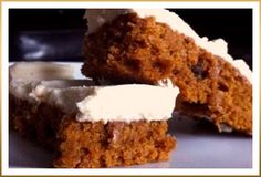 Godiva Pumpkin Squares with White Chocolate Cream Cheese Frosting ~ may have to try these out, too.