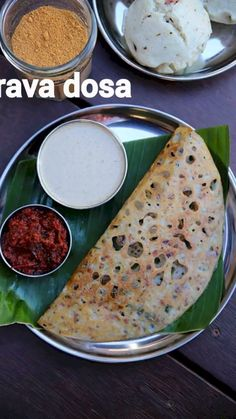 onion rava dosa with aloo bhaji recipe, instant rava masala dosa with step by step photo/video recipe. rava masala dosa a favourite south indian breakfast. Indian Dessert Recipes, Indian Snacks, South Indian Breakfast Recipes, Healthy Indian Recipes, Sweets Recipes, Masala Dosa Recipe, Semolina Recipe Indian, Rava Idli Recipe, Samosa Recipe