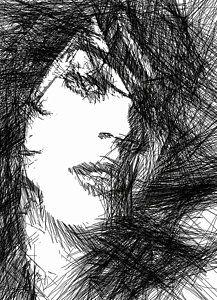 Digital Art - Woman Sketch by Rafael Salazar