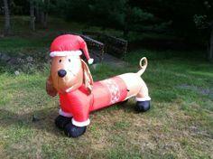 Dachshund Christmas inflatable