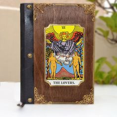 Embroidered art, leather book, poetry book, tarot card, tarot art, fortune teller, illustration journal, tarot print, The lovers tarot by Hirotechnion on Etsy Wedding Photo Booth Props, Photo Booth Frame, The Lovers Tarot, Etsy Handmade, Handmade Items, Handmade Gifts, Star Decorations, Fortune Teller, Leather Books
