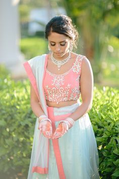 Bridal Henna Captured by Top Destination Wedding Photographers Leigh and Becca at the Hard Rock Riviera Maya, Cancun