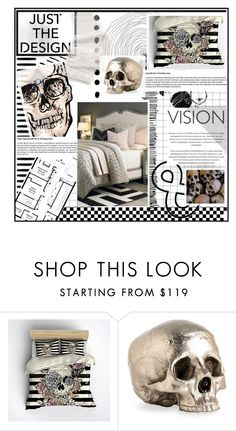 """""""SKULL & Template"""" by caroline-brazeau ❤ liked on Polyvore featuring interior, interiors, interior design, home, home decor, interior decorating, Arteriors and bedroom"""