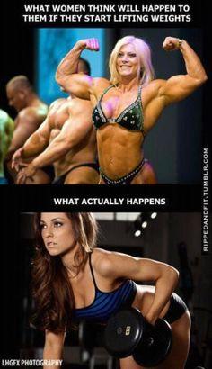 Girls lift weights
