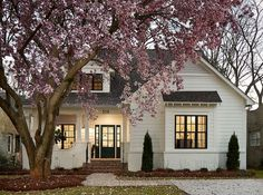 I am here today to talk about white paint options when painting the exterior of your home! Because… we are painting the exterior of our home! Future House, My House, Cottage House, Backyard Cottage, Garden Cottage, White Cottage, Beautiful Small Homes, Beautiful Kitchen, House Beautiful