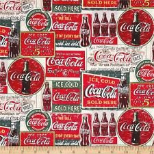 COCA COLA PATCHWORK OF OLD TIN SIGNS VALANCE