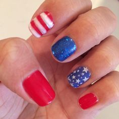 Fourth of July nails ! #nailsbyalexi