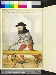 1521 Fritz Buhler - Carpenter (Zimmerman)  from Mendel Housebook.