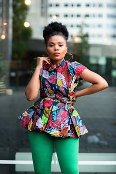 Peplum Top Outfits, Sexy Outfits, Fashion Outfits, African Attire, African Wear, African Women, Ankara Peplum Tops, Ankara Blouse, Chitenge Outfits