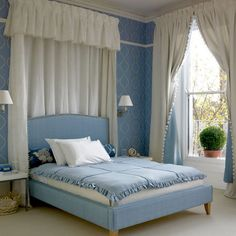 Traditional blue boudoir