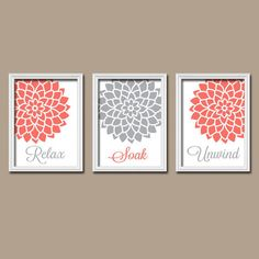 Coral Colored Wall Decor coral teal navy wall art, canvas or prints bedroom pictures, teal