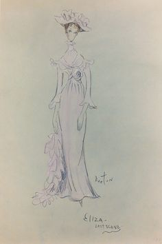 "The costume for Eliza Doolittle in the final scenes, worn by Audrey Hepburn in ""My Fair Lady"". Designed by Cecil Beaton, Bernard Shaw, My Fair Lady, Theatre Costumes, Movie Costumes, Audrey Hepburn, Hollywood Costume, Eliza Doolittle, Cecil Beaton, Vintage Costumes"