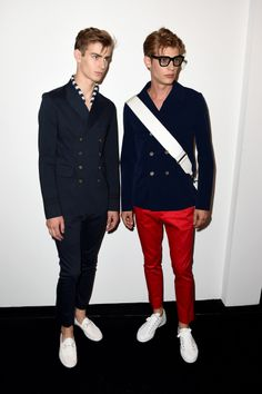 Backstage at the Gucci Men's Spring/Summer 2015 Runway Show