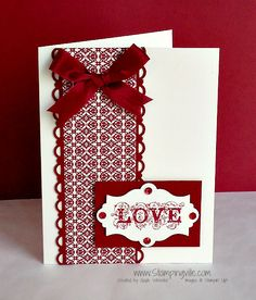 Clean & Simple Love Card w/Stampin' Up! Affection Collection Set