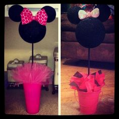 Minnie Party Decor  Left Pinterest. Right me. Whoo hoo!