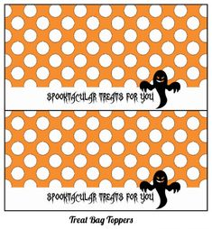 free-halloween-printables - treat bag topper