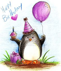 Happy Birthday, Debbie, from your penguin friend! I wish you a lovely day and a wonderful year!