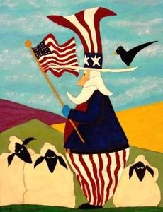 Folk Art Uncle Sam | Uncle Sam