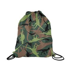 Unisex Cat Print Backpack Drawstring Rucksack Canvas Sport Gym Swim Dance