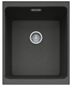 Franke Kubus KBG 110 34 Fragranite Onyx 1.0 Bowl Kitchen Undermount Sink