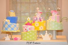 Topsy Turvy Diaper Cakes!!