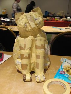 From There's a Dragon in my Art Room: Lots of paper mâché armature photos. Many paper mâché lesson plans on this blog.