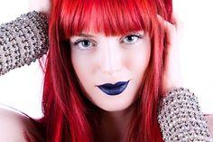 red hair dark lipstick