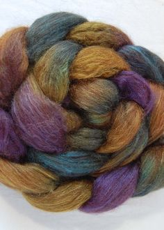 Alpaca and silk spinning fibre. Luxurious.